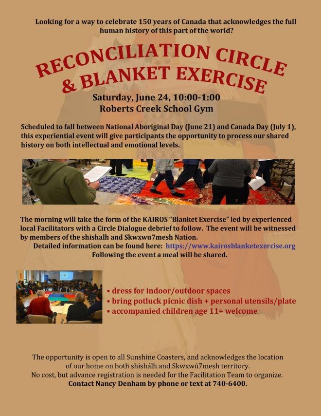 Sat June 24 Blanket Circle Poster